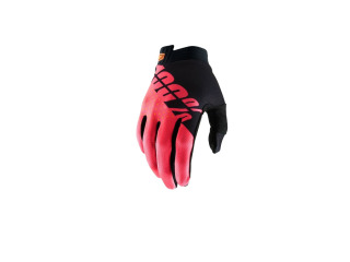 100% rukavice iTRACK Black/Fluo Red